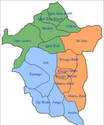 Map of Enugu State